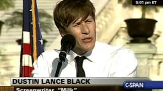 National Equality March Rally: Dustin Lance Black speaks