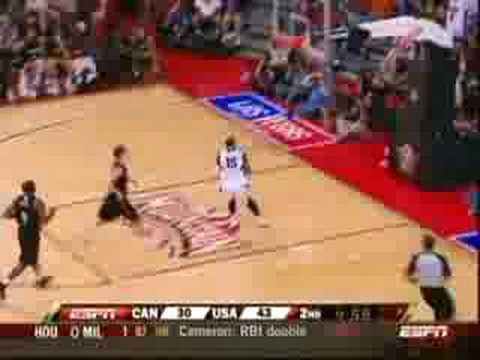 Carmelo Anthony Slam vs. Canada (7.25.08)