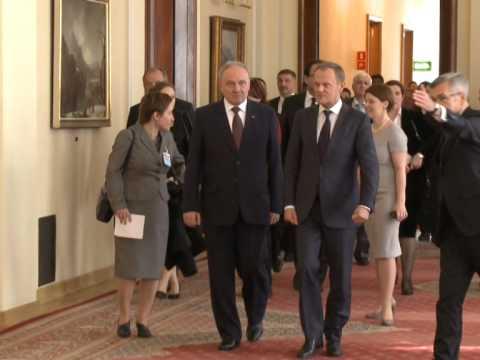 Președintele Nicolae Timofti a avut o întrevedere cu prim-ministrul Poloniei, Donald Tusk