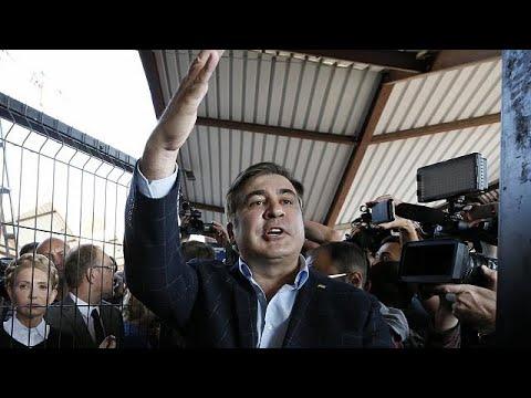 Ο Σαακασβίλι έσπασε το «μπλόκο» και μπήκε στην Ουκρανία