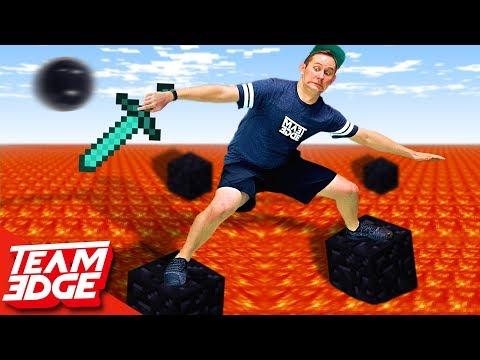 Minecraft Floor Is Lava Challenge!!