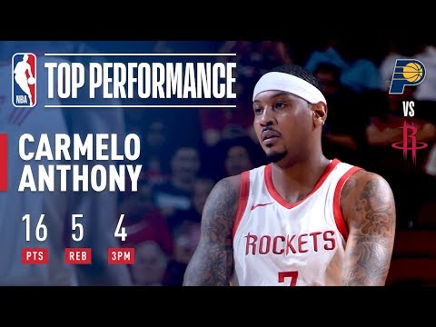 Video: Carmelo Anthony Puts Up 16 vs The Pacers | 2018 NBA Preseason