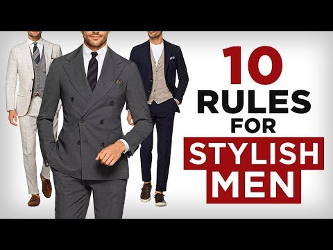 10 Style Rules EVERY Man Should Know (NO EXCEPTIONS) | RMRS Fashion Video Tutorial