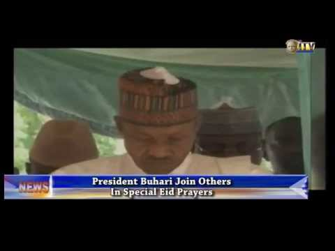President Buhari joins others in special Eid prayers