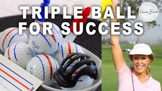 video thumbnail Triple Golf Ball Liner Alignment Tool, Golf Ball Marker Tool for a Better Alignment. 2 pens Included youtube