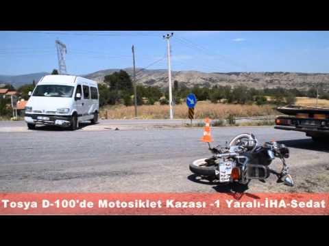 TOSYA D-100'DE MOTOSİKLET KAZASI 1 YARALI