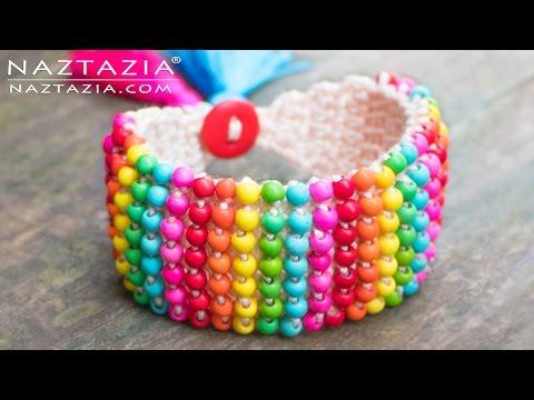 crochet - beaded bracelet