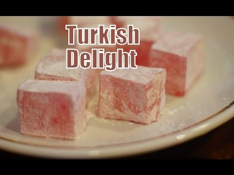 Eating Turkish Delight in Istanbul, Turkey