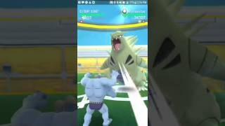 Another raid in a cemetery.  I always feel bad playing Pokemon in places like that.  But a Tyranitar is a Tyranitar.  It also sucks when someone shows up right after we finish the raid and we can't help them.