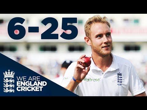 Stuart Broad Takes 6-25 at Old Trafford | England v India 2014 - Highlights
