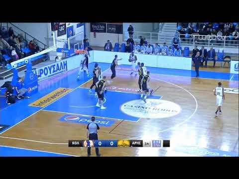 Basket League 2019-2020: ΚΟΛΟΣΣΟΣ – ΑΡΗΣ | 29/02/2020 | ΕΡΤ