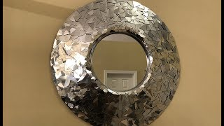 Dollar Tree DIY || Silver Metallic Decorative Wall Mirror