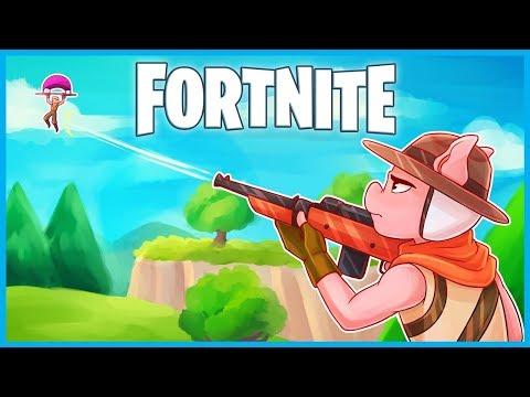 I'M THE BEST HUNTING RIFLE SNIPER in Fortnite: Battle Royale! (Fortnite Funny Moments & Fails) (видео)