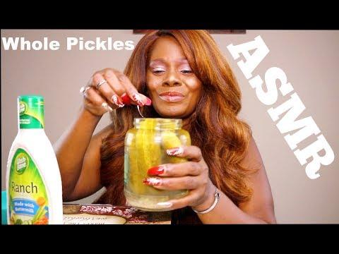 ASMR Pickle Eating Sounds Sk Tingling Crunch
