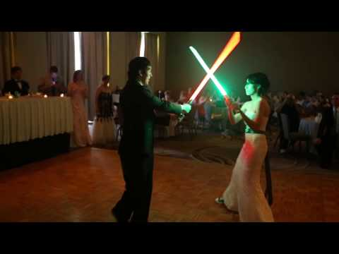 VIDEO: Bride and Groom's First Dance Involves Light Sabers