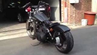 3. Harley Davidson, 2008, Street Bob, low, Vance & Hines
