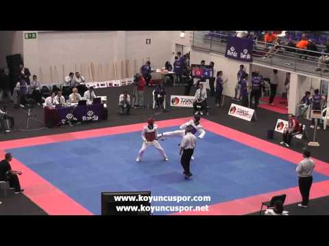 59kg Srensen (DEN) vs (GER) Koca (19th Europen Junior TKD Championships 2013) (видео)