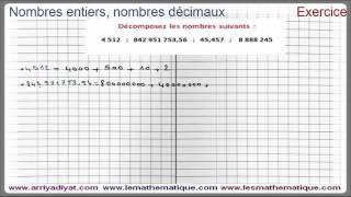 Maths 6ème - Nombres entiers et nombres décimaux Exercice 4