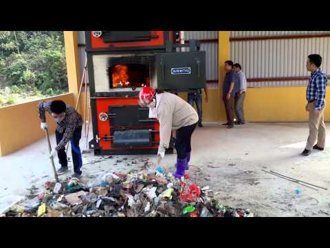 Lò đốt rác thải sinh hoạt công nghệ NFI-05 tại Na Hang, Tuyên Quang P1