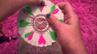 How to make a friendship bracelet using a friendship wheel - YouTube