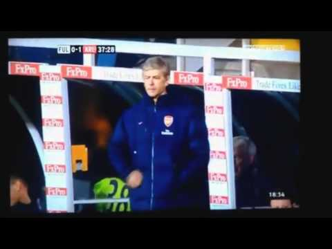 Arsene Wenger - Jacket Pocket FAIL! Arsenal 1-2 Fulham