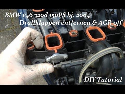 ►BMW Drallklappen entfernen | AGR stilllegen | e46 320d 150PS | DIY Tutorial