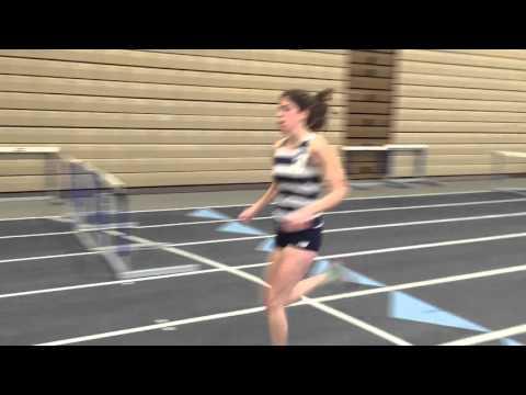 Maddie Dolins '17 wins the 3000 meters at the Reggie Poyau Memorial