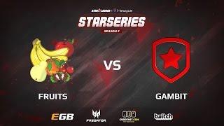 Gambit vs fruits, game 1