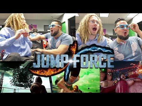 Reacting To JUMP FORCE 2nd Trailer! CREATE A CHARACTER REACTION! Gon, Hisoka, Sanji, Black Beard (видео)