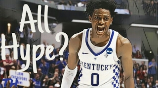 Over the past couple months, we have seen De'Aaron Fox rise from a lottery pick into a possible top 5 selection in the upcoming 2017 NBA Draft. Let's take a closer look at the progression Fox has made and see if he really has the potential to be a star in the NBA or if he is just the beneficiary of some post March Madness hype. Beats: DKST Beats- Pizza PieDKST Beats- Torn Out PageDKST Beats- Own To DKST Beats- SunsetSpecial thanks to the Hoops Column, Ballislife, and Draft Express for some of the footage.I do not own the footage or music in this video. All rights go to their respective owners.Social Media:Twitter: https://twitter.com/Tr1ce_H1ghInstagram: https://instagram.com/trice.highThanks for watching watching! Please don't forget to drop a like, leave feedback in the comments section below, and SUBSCRIBE.Remember to turn on post notifications so you don't miss any new content.God bless!