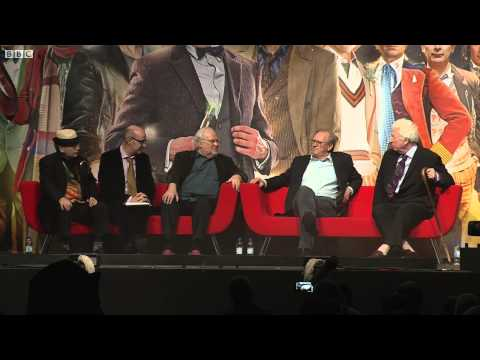 Who - Doctors Peter Davison Sylvester McCoy, Colin Baker and Tom Baker discuss the importance of age when playing the Doctor, at the Doctor Who Celebration in Nove...