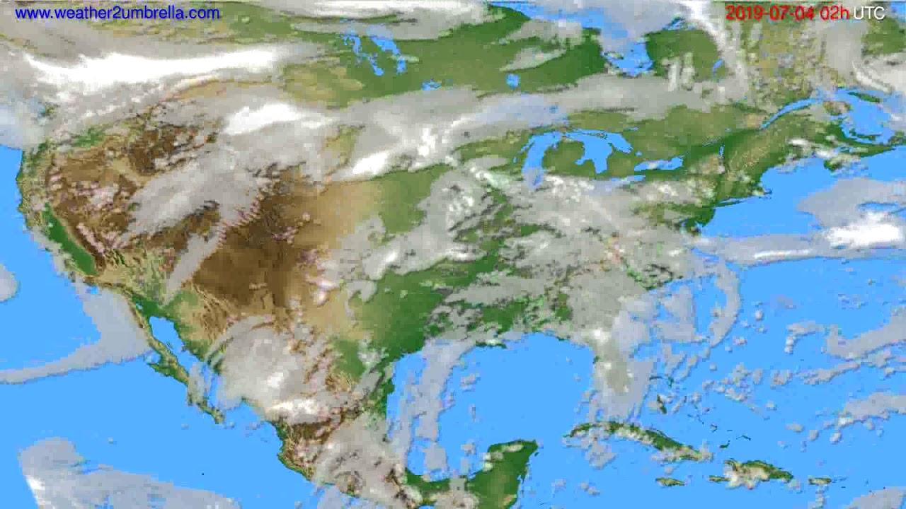 Cloud forecast USA & Canada // modelrun: 00h UTC 2019-07-02
