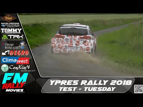 Ypres rally 2018 | TEST | Neuville - Cronin - Bouffier - Princen - Snijers - Duquesne [HD]
