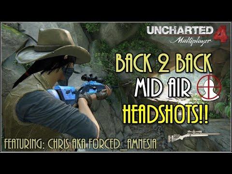 Uncharted 4  INSANE Back to Back Headshots