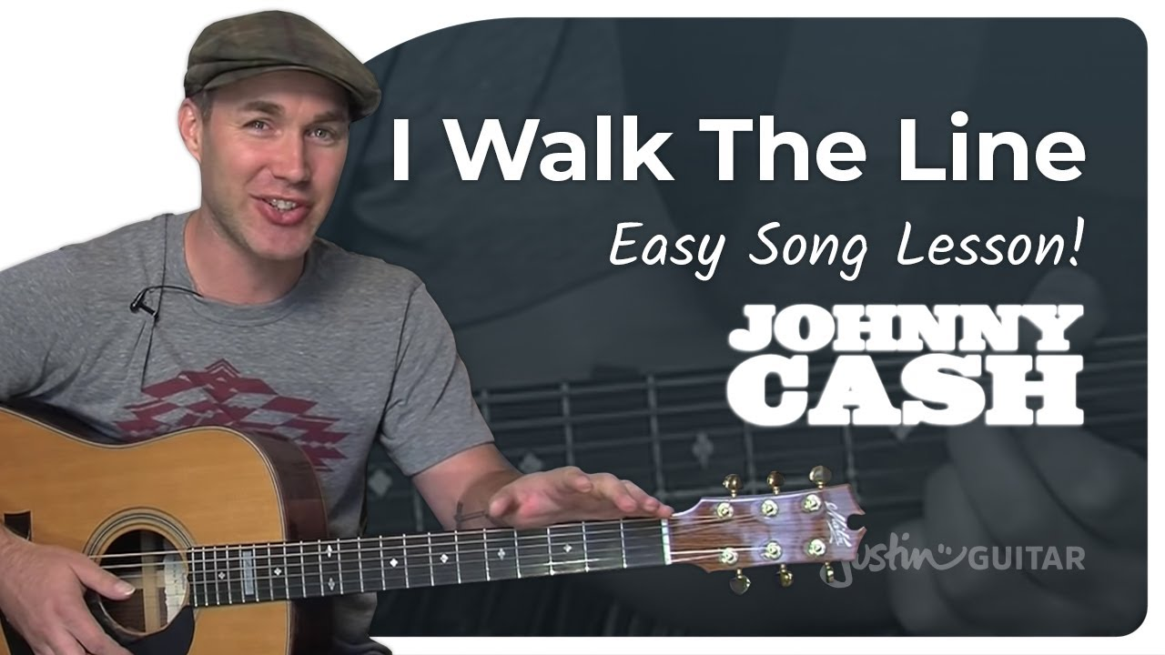 I Walk The Line – Johnny Cash (Beginner Song Guitar Lesson BS-105) How To Play