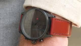 Sem Lewis Metropolitan Finchley men's chronograph watch black grey/brown