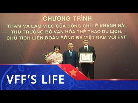 Chủ tịch VFF ông Lê Khánh Hải mong PVF sẽ đào tạo thêm nhiều tài năng trẻ hơn nữa cho BĐVN - Thời lượng: 105 giây.
