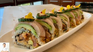 Hamachi Jalapeño Roll   How To Make Sushi Series by Diaries of a Master Sushi Chef
