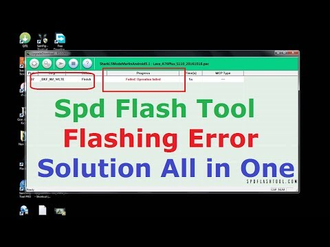 SPD FLASH TOOL BKF NV ERROR & Solution All In One Tested 100% Working