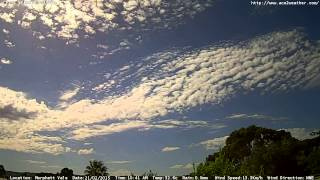 Adelaide weather time Lapse  Sat 21 02 2015