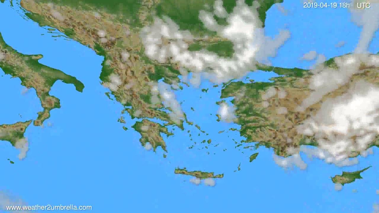 Cloud forecast Greece // modelrun: 00h UTC 2019-04-17