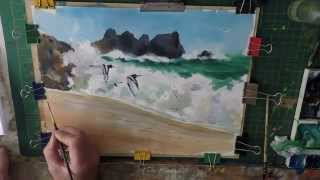 Learn how to paint sea birds