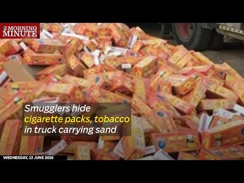 Oman Customs busted smugglers attempting to bring in 10,200 packets of illegal cigarettes and 600 kilograms of chewing tobacco into the country