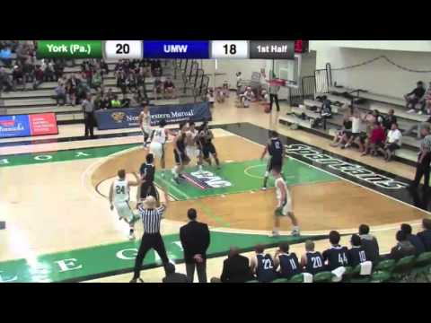 MBB: York vs Mary Washington  Highlights - 12/12/15