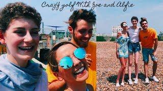 CRAZY GOLF WITH ZOE & ALFIE   Vlog Video