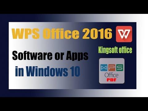 Wps office 2016 (Kingsoft office) use in Windows 10