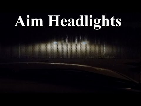 how to adjust headlights