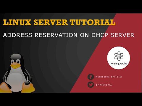 Address Reservation on Linux DHCP Server isc dhcp server