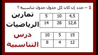 الرياضيات السادسة إبتدائي - التناسبية (1) تمرين 4