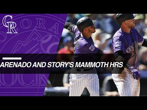 Arenado and Story with mammoth HRs in Rockies win